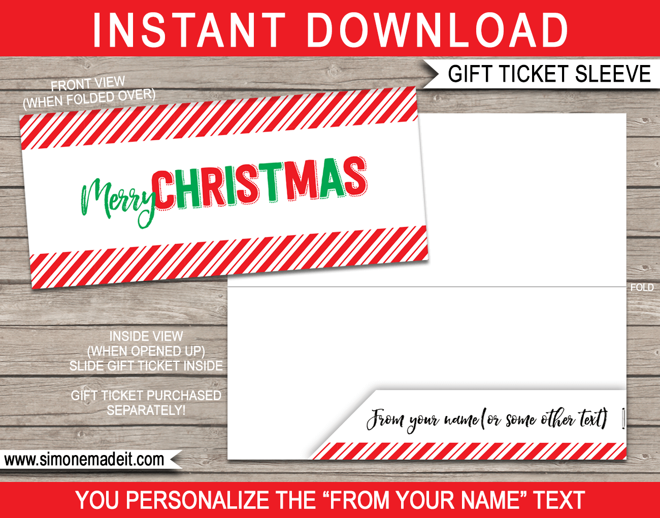 Printable Christmas Party Ticket Template