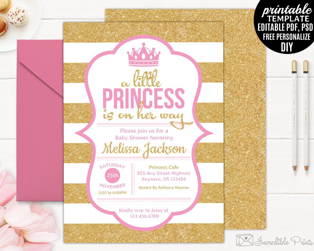 Printable Downloadable Free Baby Shower Invitations Templates Pdf