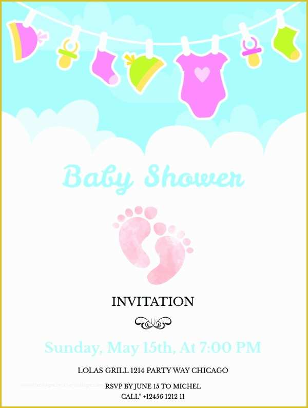 Free Baby Shower Invitations Templates Pdf Of 59 Unique Baby Shower Invitations