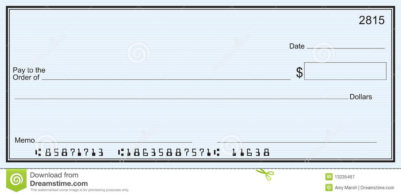 Printable Free Blank Check Template Word Document