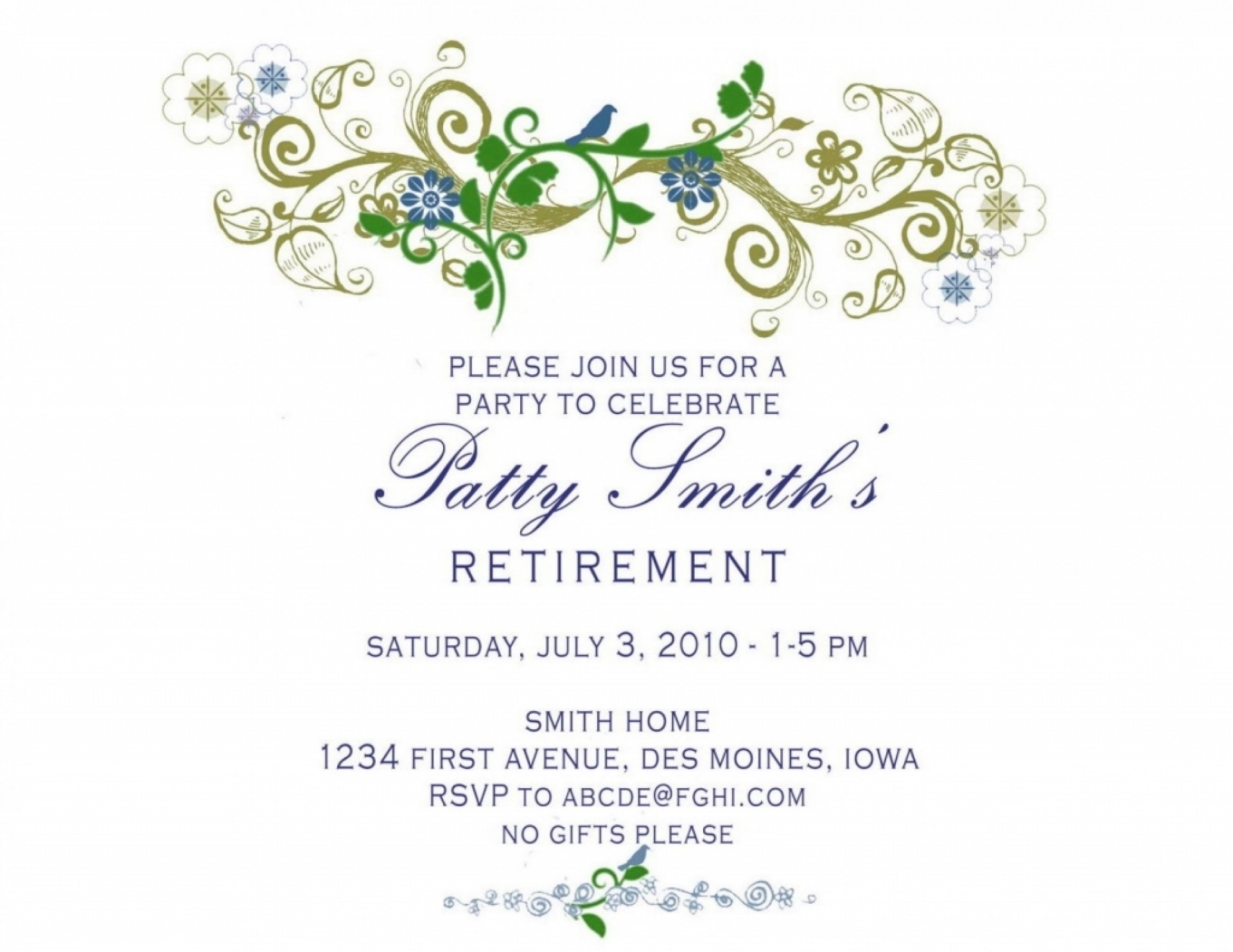 Printable Free Retirement Party Invitation Templates For Word