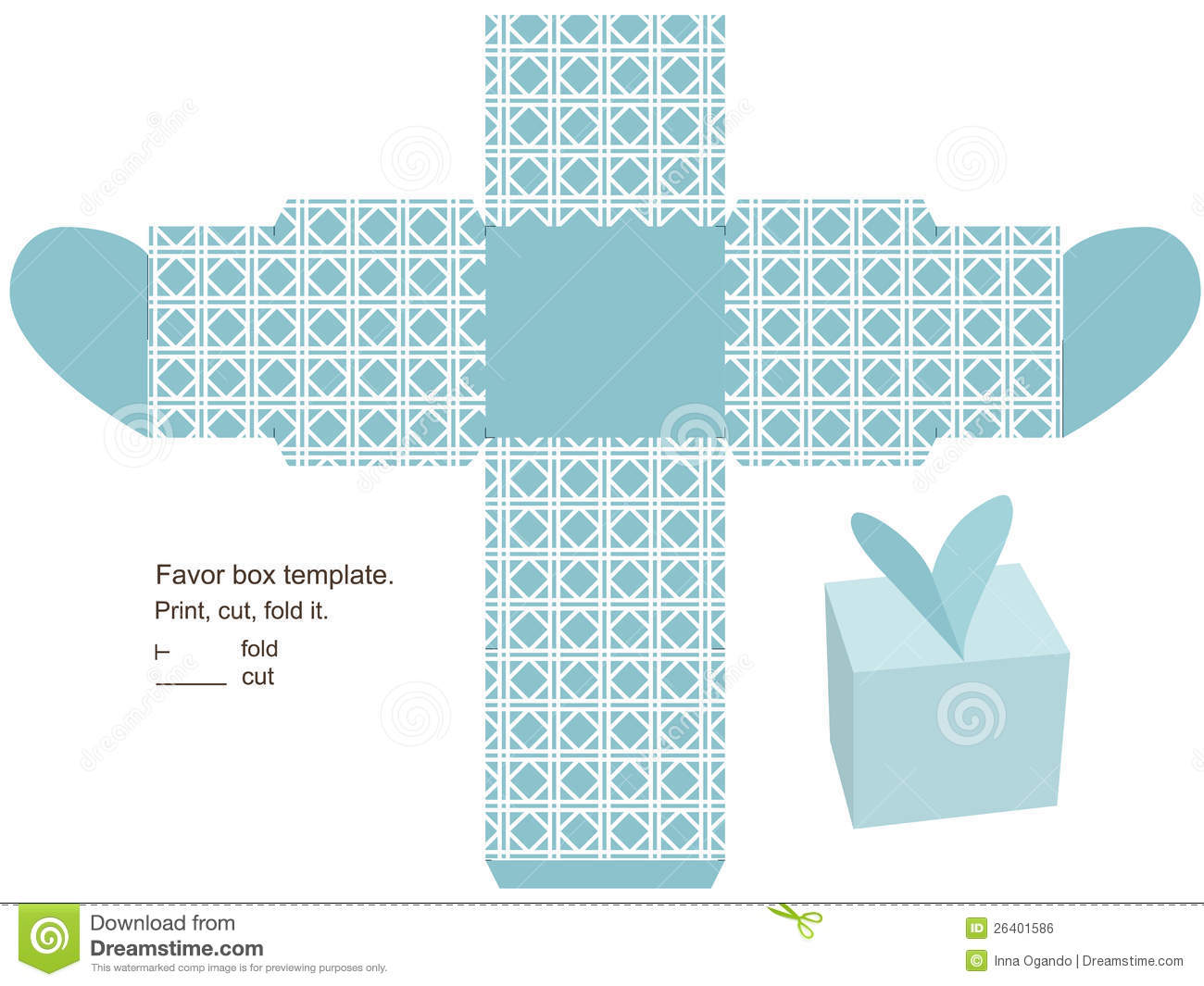 Printable Gift Box With Lid Template