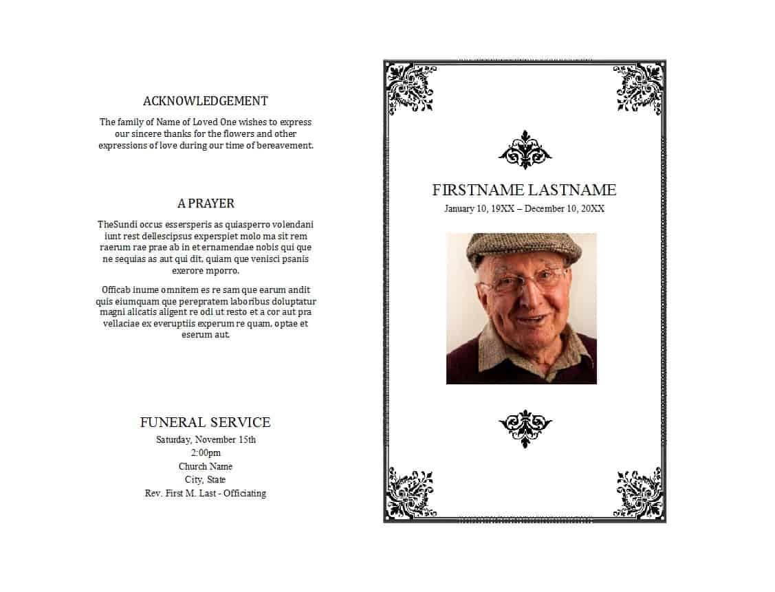 Printable Memorial Service Invitation Template Free
