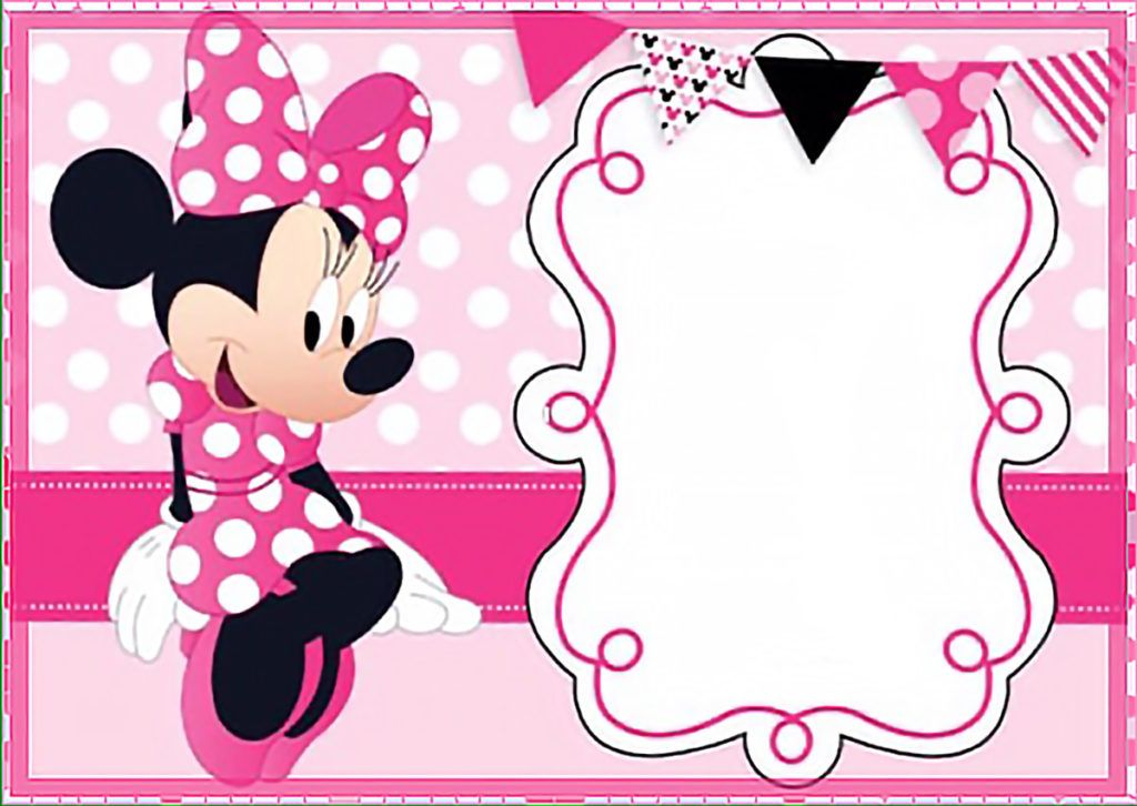 Printable Minnie Mouse Birthday Invitation Template