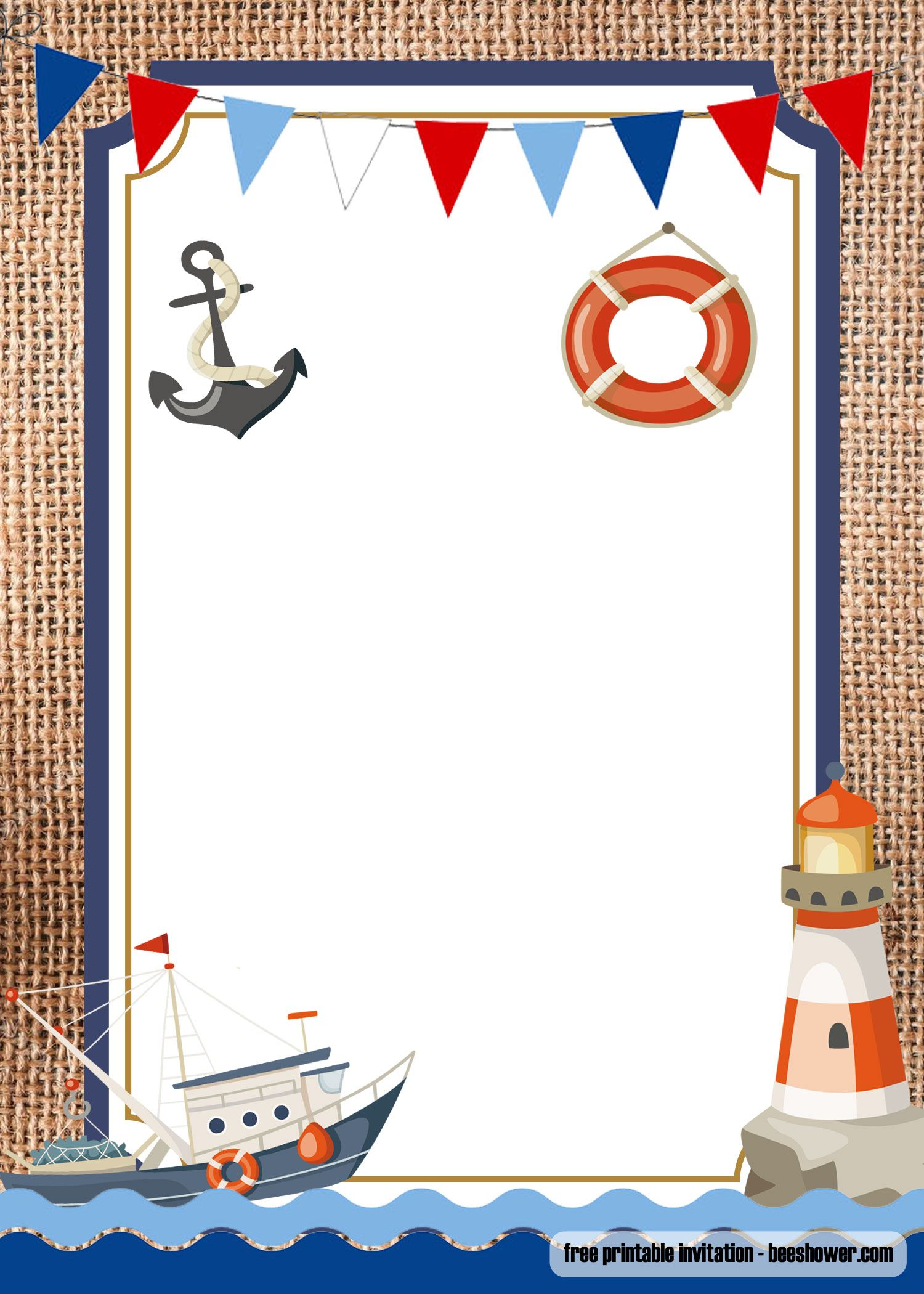 Printable Nautical Invitation Template Free