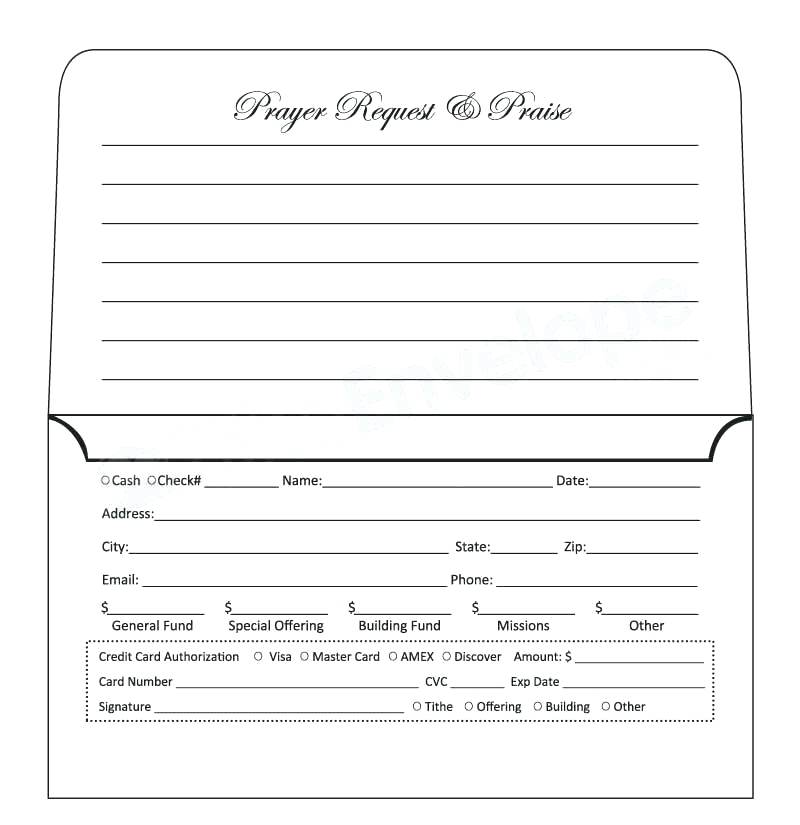 Printable Offering Envelope Template