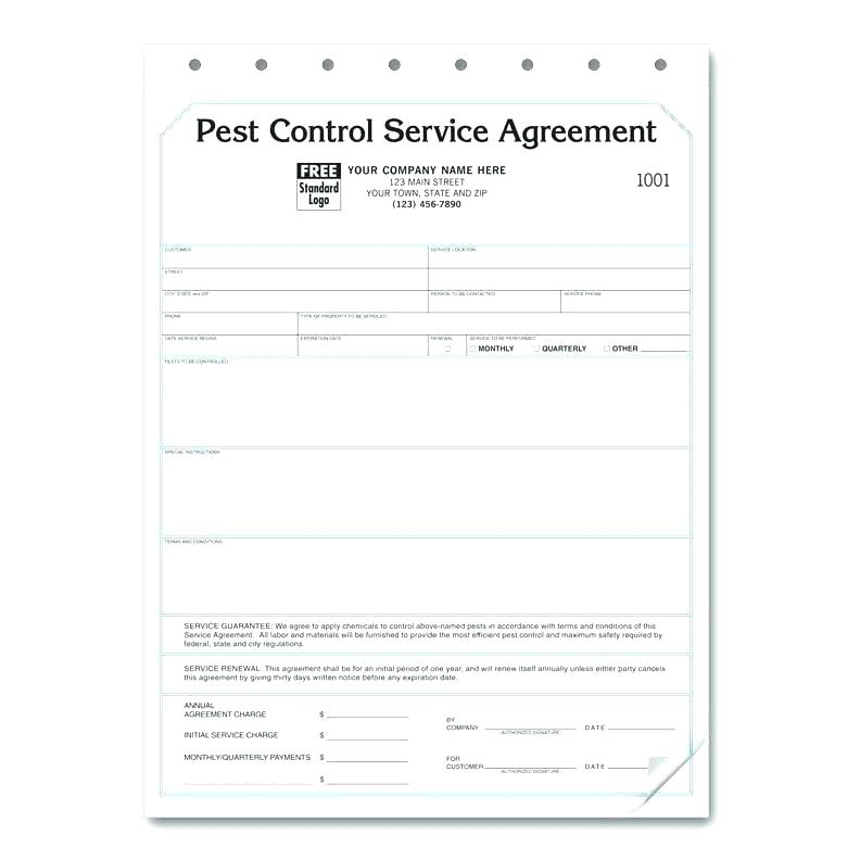 Printable Pest Control Contract Template