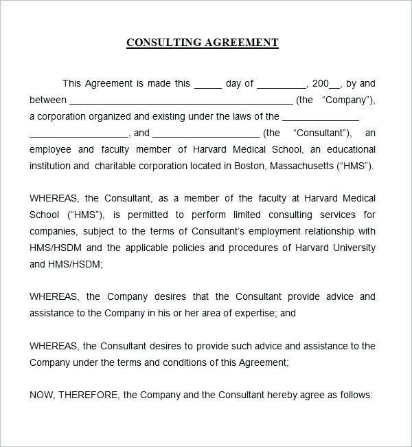 Printable Simple Consulting Agreement Template