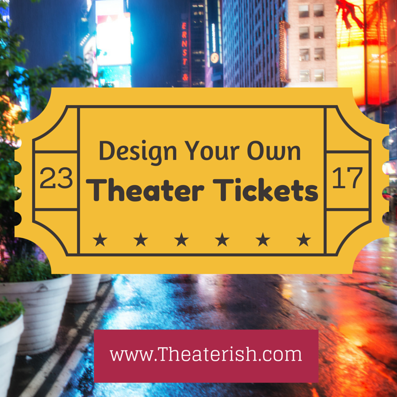 Printable Theater Ticket Template