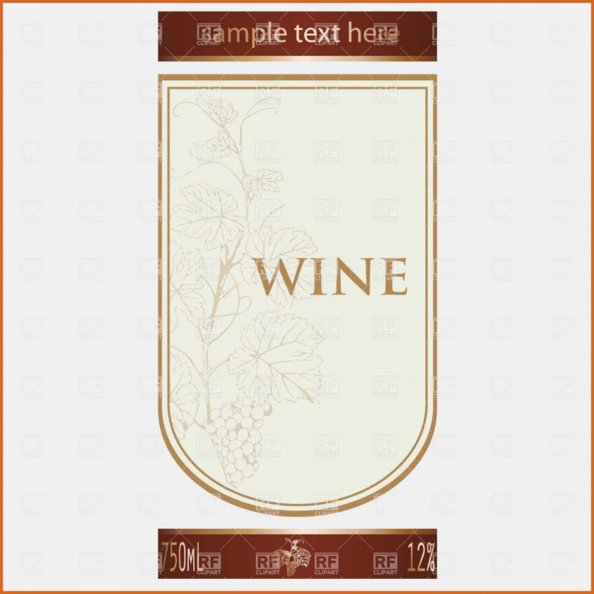 Printable Wine Label Template Word