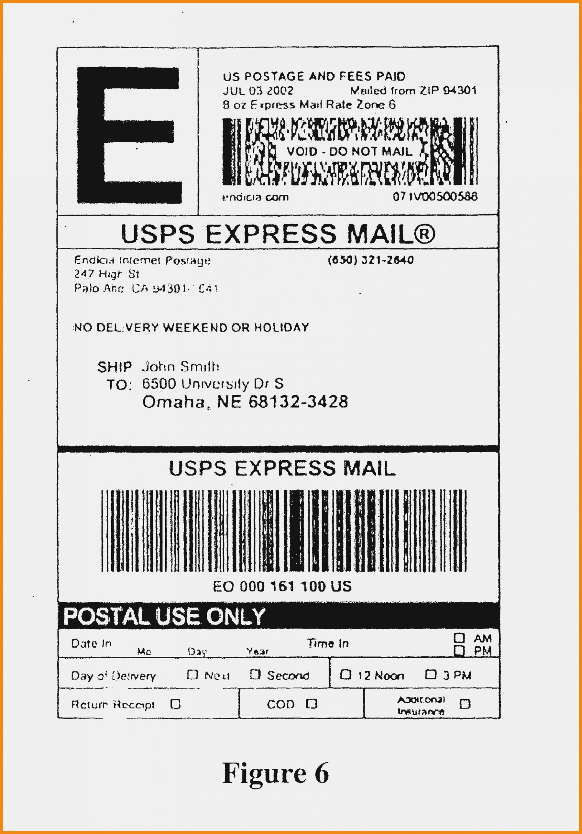 Priority Mail Label Template
