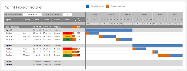 Project Tracker Excel Template