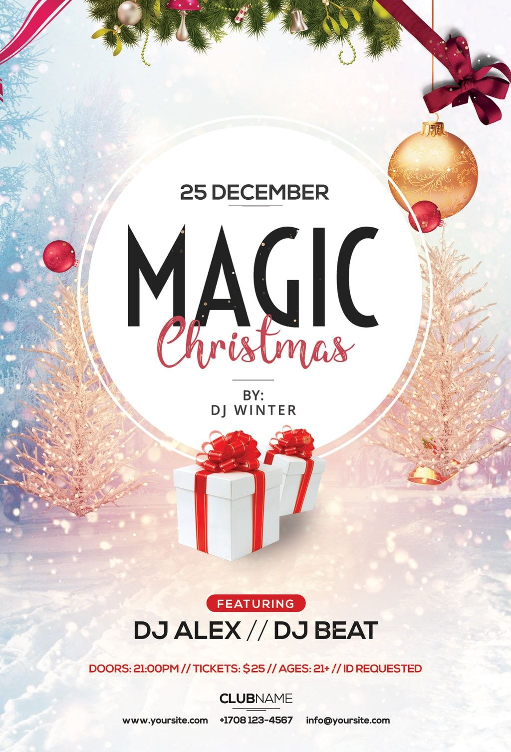 Publisher Christmas Party Flyer Template Free