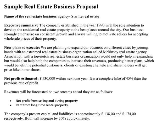 Real Estate Business Proposal Template