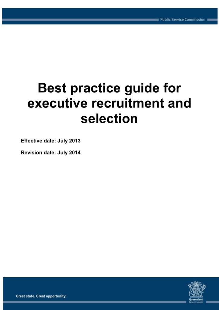 Recruitment And Selection Plan Template