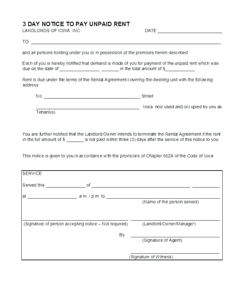Rent Payment Agreement Template