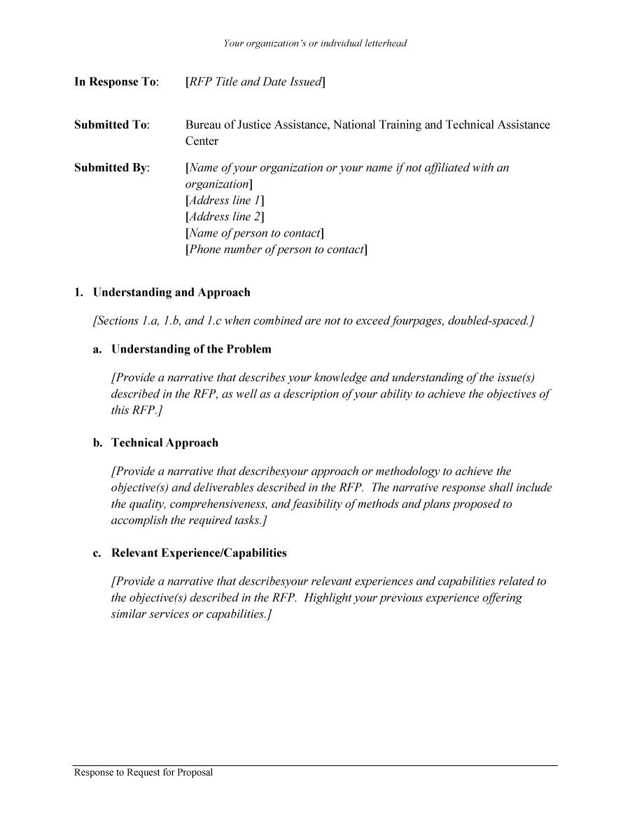 Request For Proposal Rfp Proposal Template
