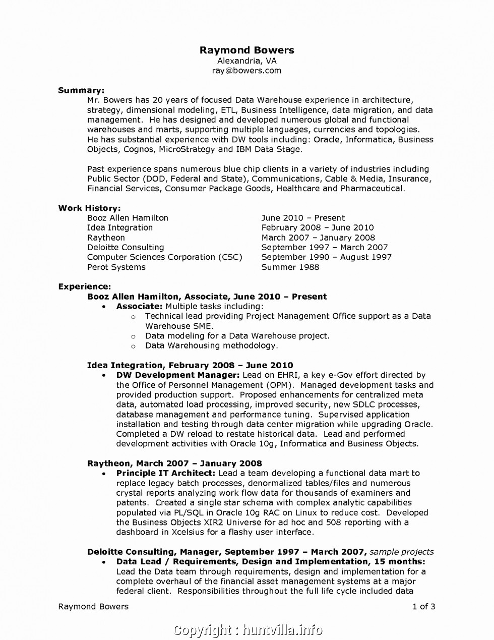 Resume Templates For Warehouse Jobs