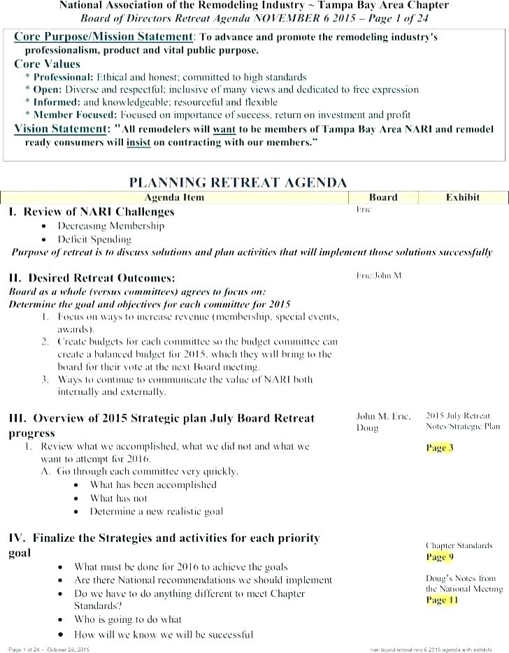 Retreat Schedule Template Excel
