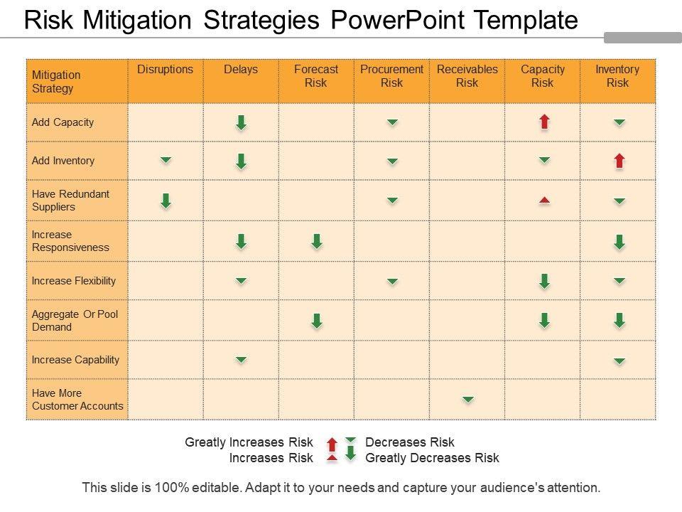 Risk Mitigation Template