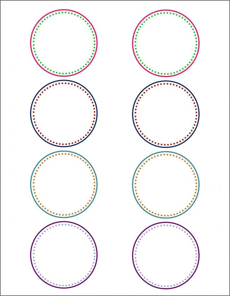Round Sticker Labels Template