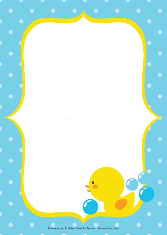 Rubber Duck Invitation Template