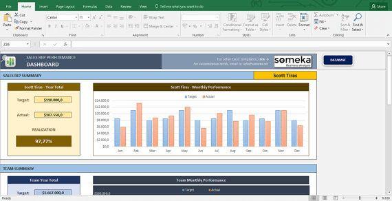 Salesman Excel Sales Tracking Template