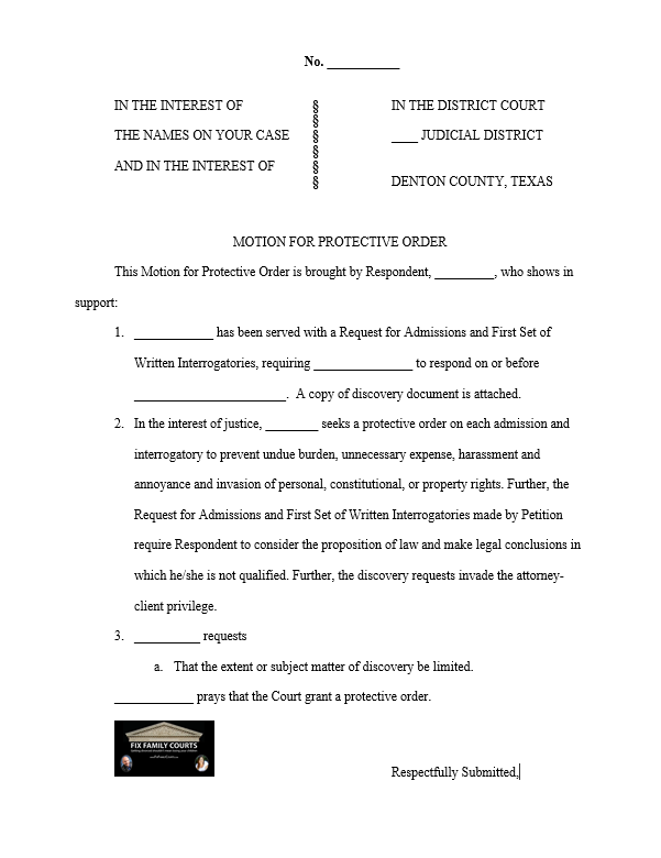 Sample Court Motion Template