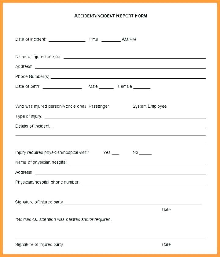 Security Guard Incident Report Template Word