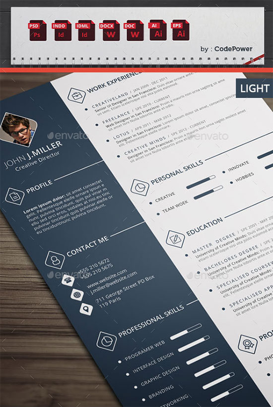 Simple Infographic Cv Template
