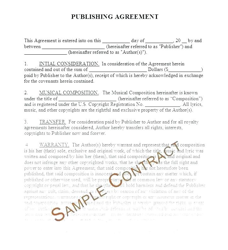 Simple Musician Contract Template