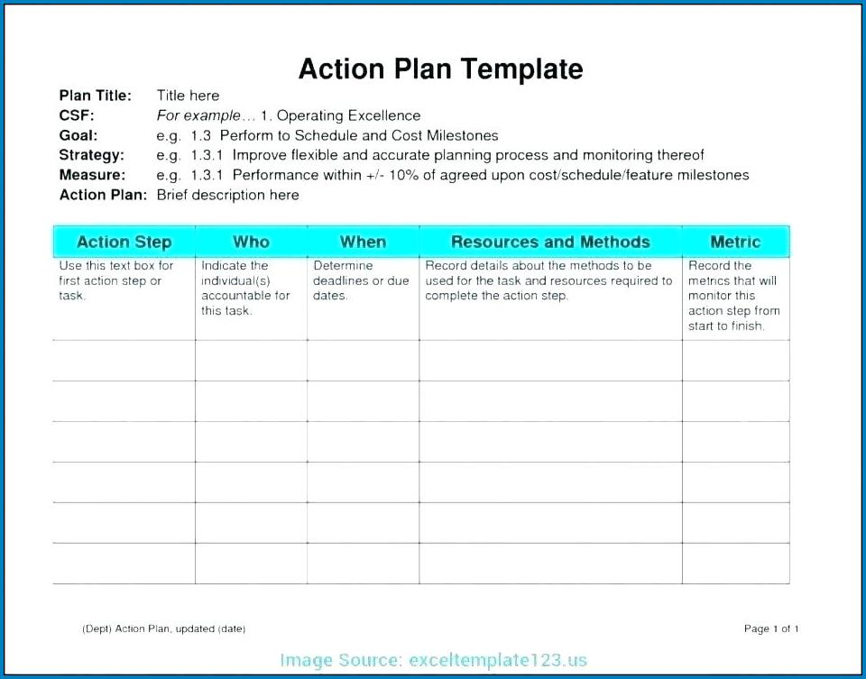 Simple Project Plan Template Excel