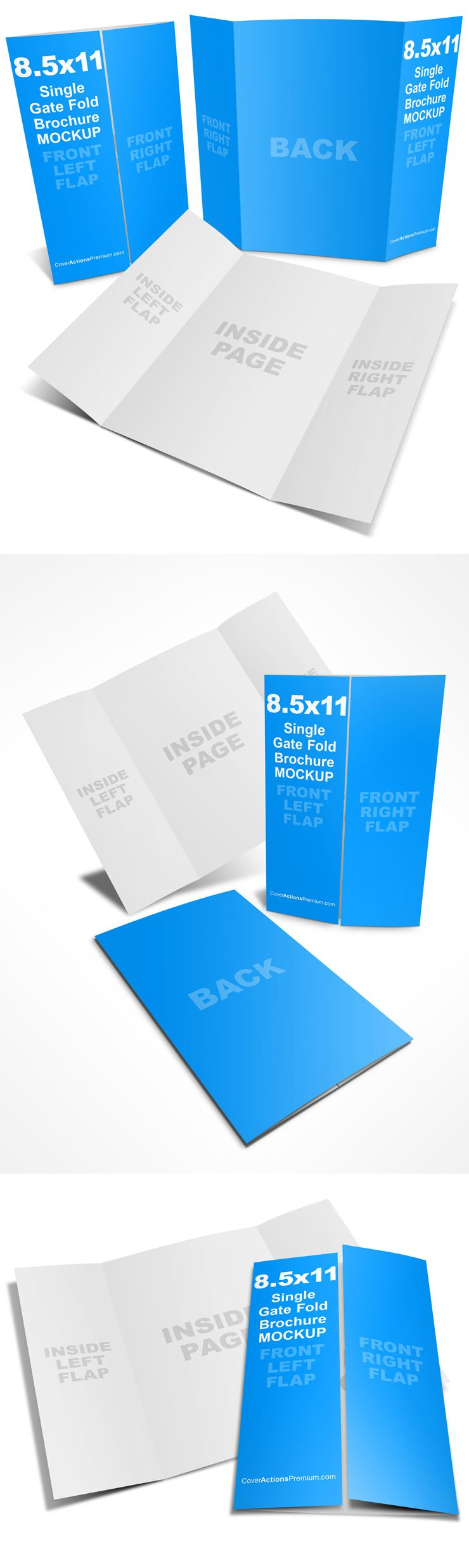 Single Open Gate Fold Brochure Template