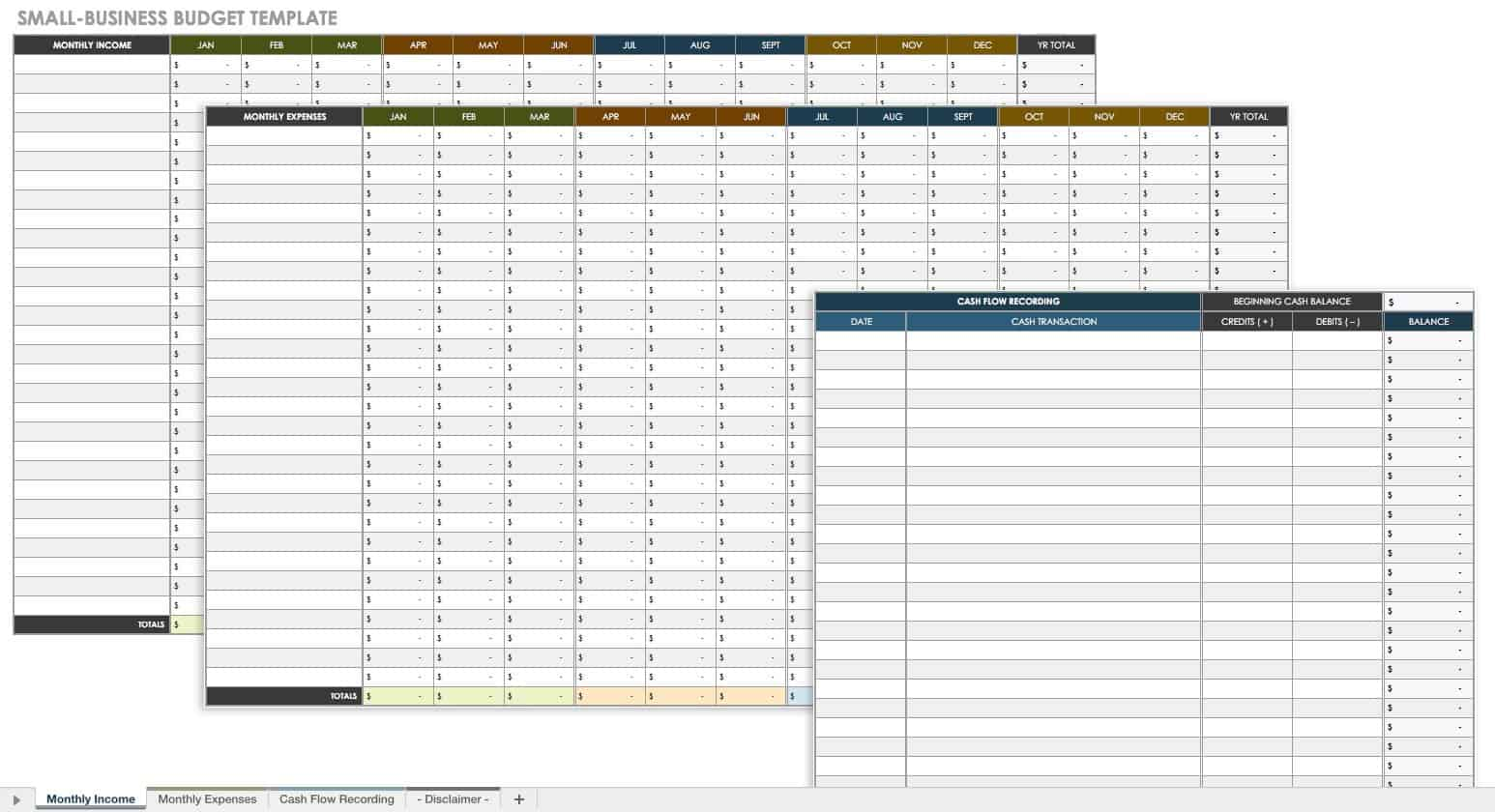 Small Business Annual Business Budget Template Excel