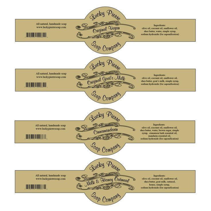 Soap Label Templates Free