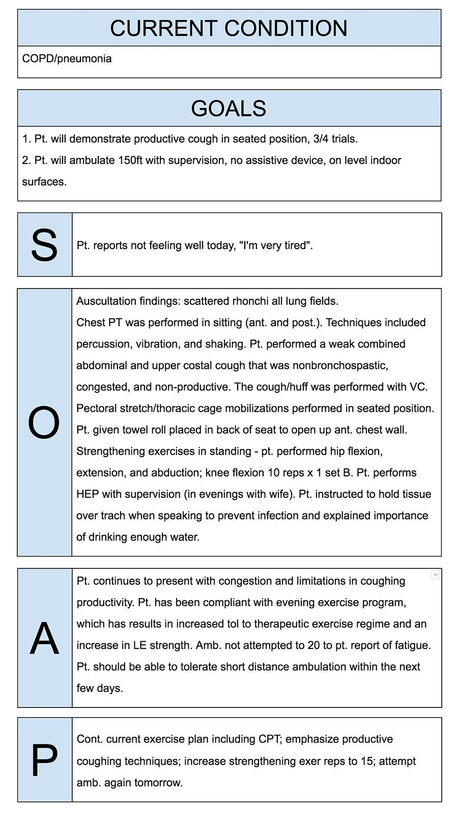 Physical Therapy Daily Note Template And Soap Notes Template