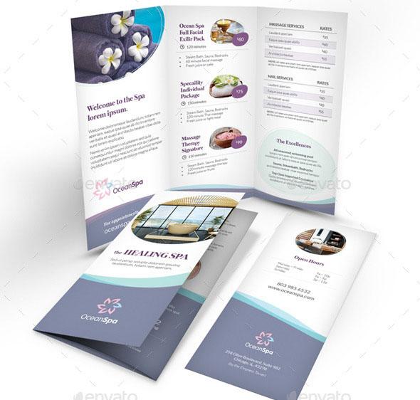 Spa Brochure Templates Psd