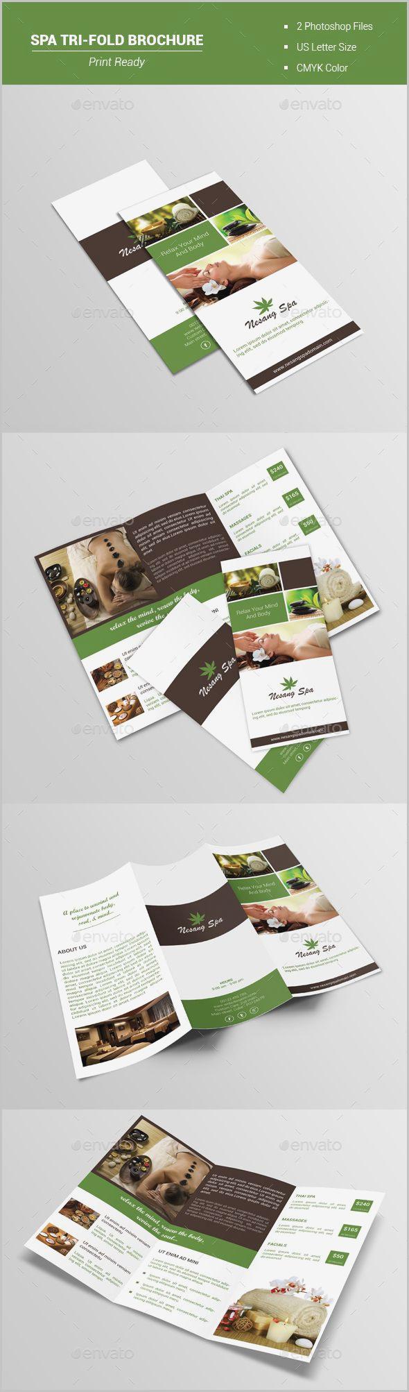 Free Printable Spa Brochure Templates