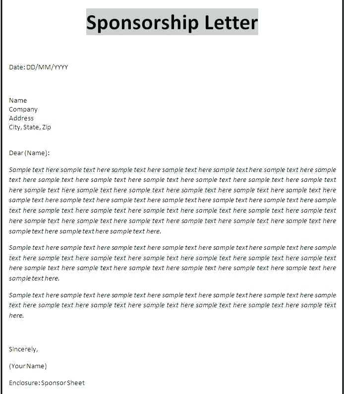 Sponsorship Sponsor Proposal Template