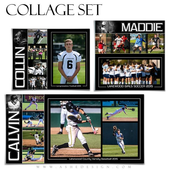 Sports Collage Templates Photoshop