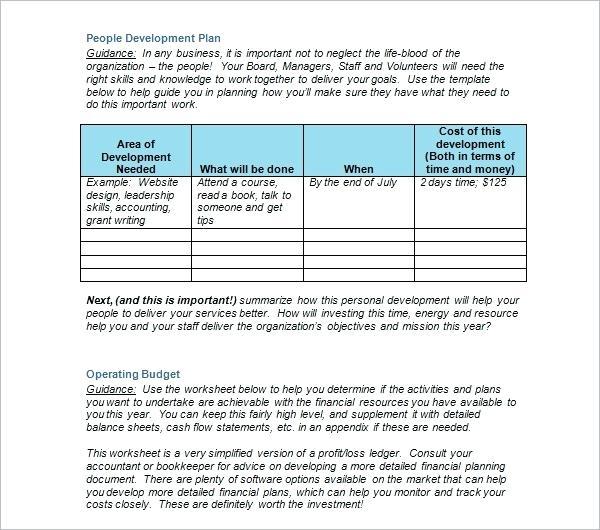 Strategic Plan Template For Nonprofits Doc