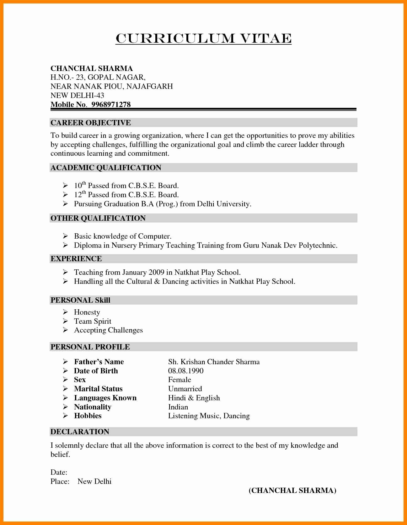 Resume Format Civil Engineer Professional Template Pdf Curriculum ... Engineering Student Resume Format Pdf