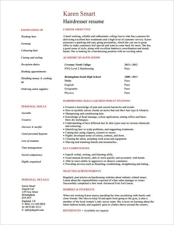 Stylist Resume Template