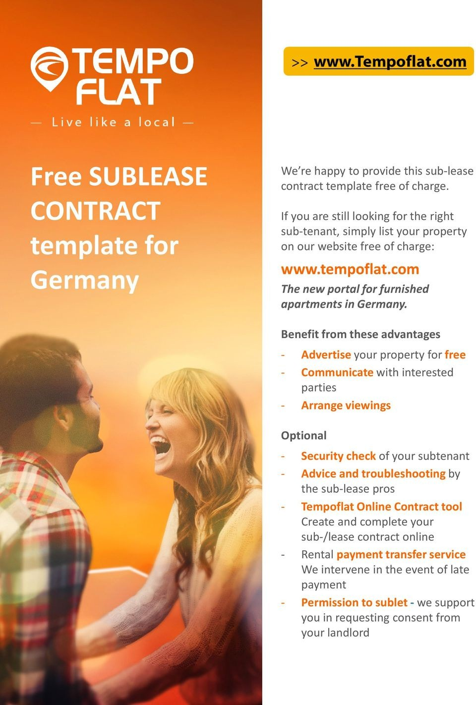 Sublet Contract Template Germany