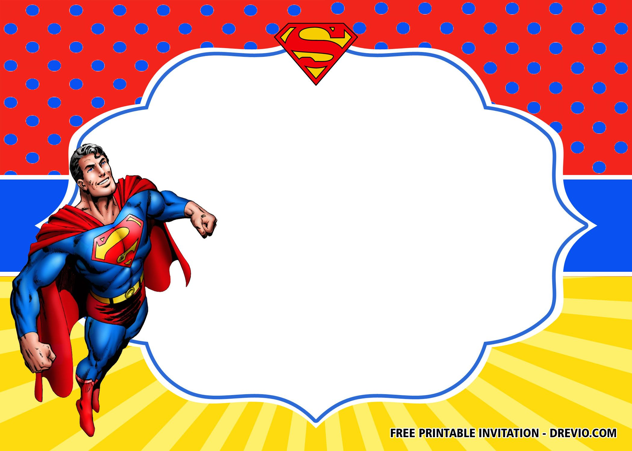 Superman Invitations Templates Free