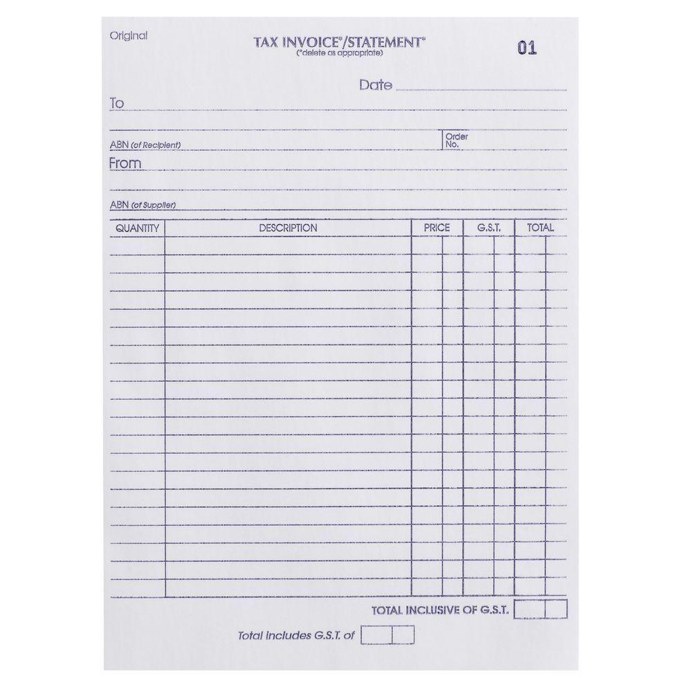 Tax Invoice Statement Template