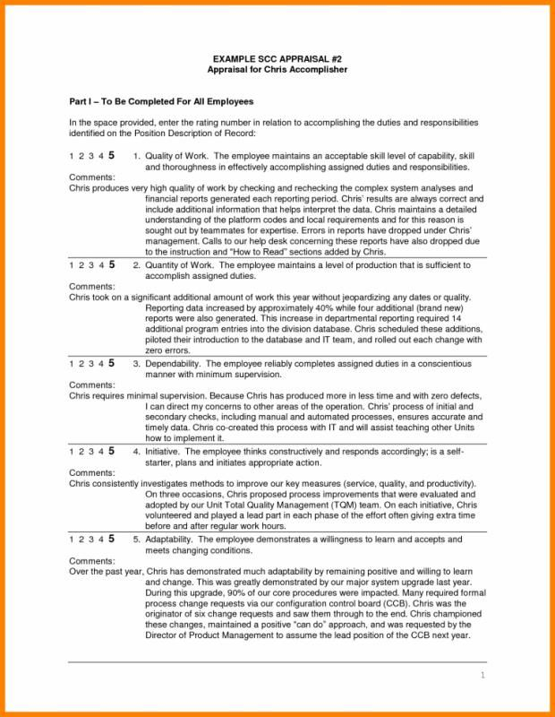 Template Annual Performance Review Employee Self Evaluation Examples