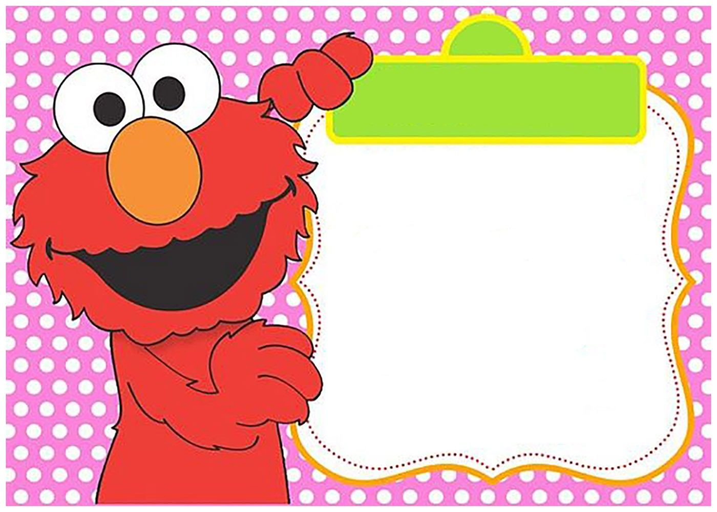 Template Elmo Invitations 2nd Birthday