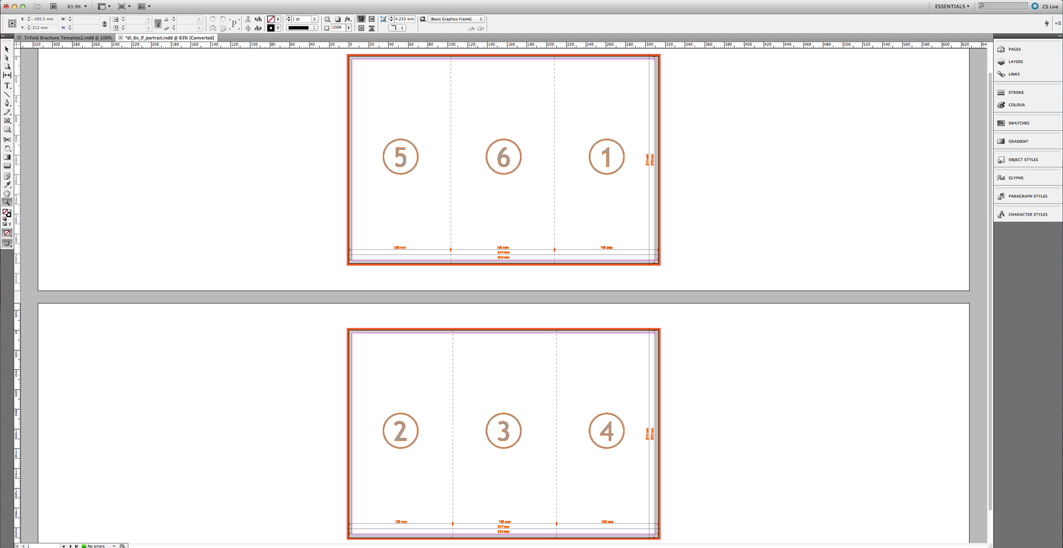 Template For Trifold Brochure Indesign