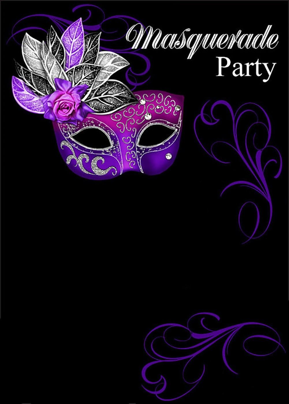 Template Masquerade Ball Invitations